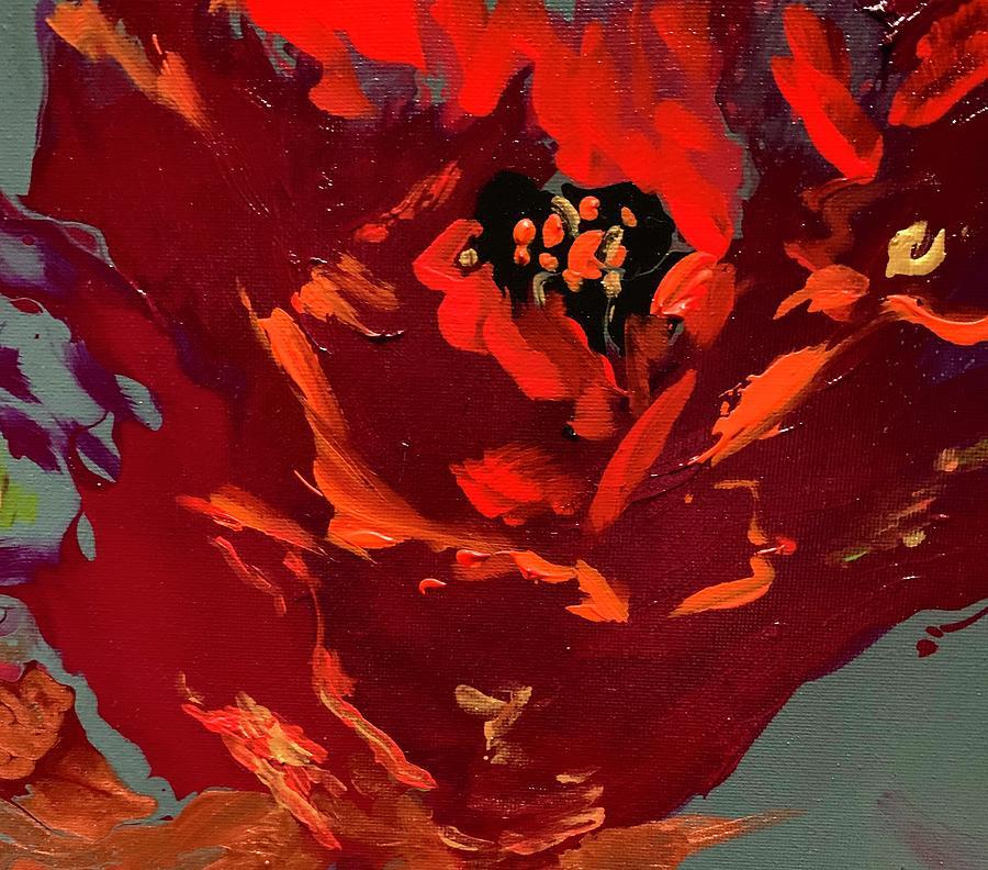 Scarlet Poppy Painting
