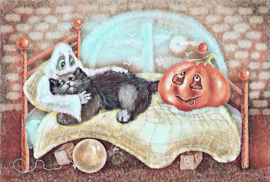 Scary Story Terracotta Digital Art