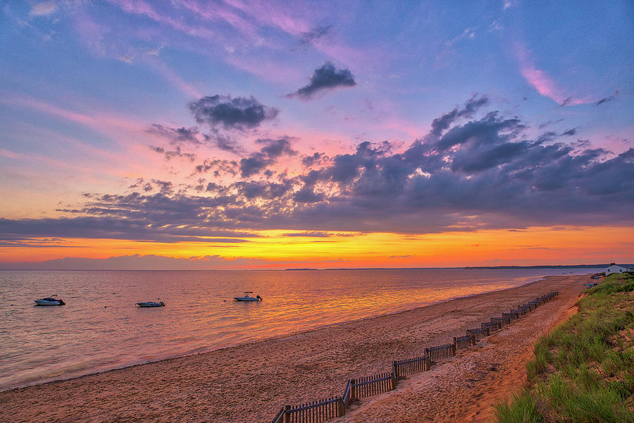 Scenic View Of Cape Cod Bay Thumpertown Beach Photograph