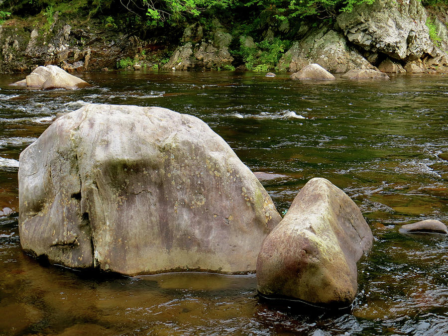 Stream Photograph - Schoharie Rocks by Azthet Photography