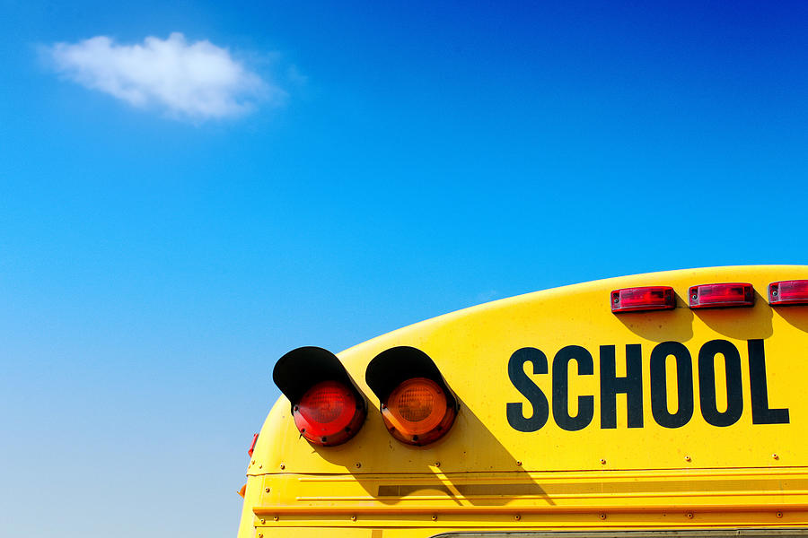 School bus in technicolor Photograph by Modchik Photography