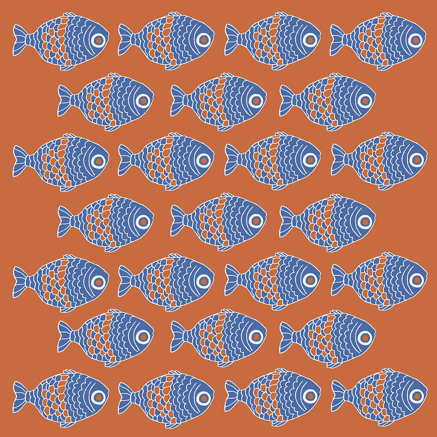 School Of Fish Painting