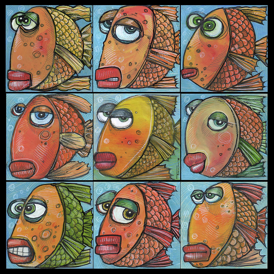 School of Nine Fish by Tim Nyberg