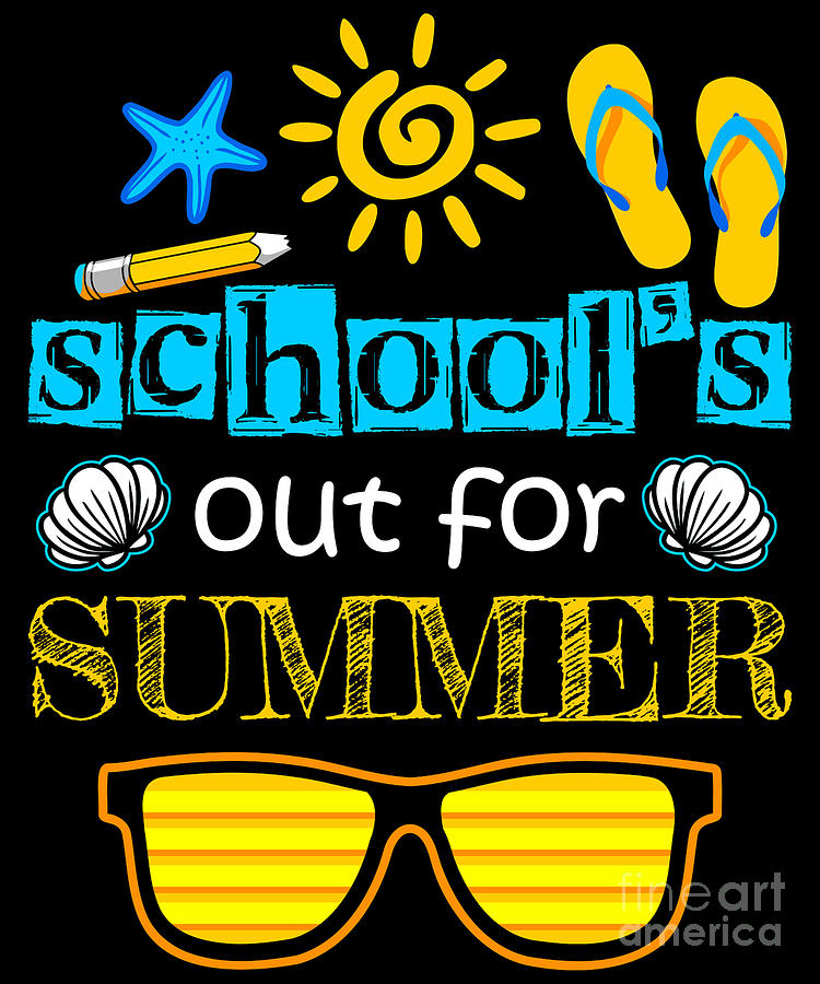 Schools Out For Summer Digital Art by Beth Scannell