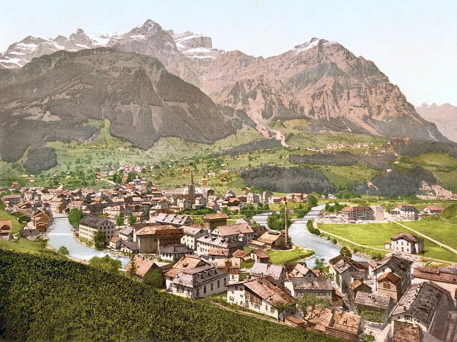 Schwanden, Glarus, Switzerland 1890. Photograph