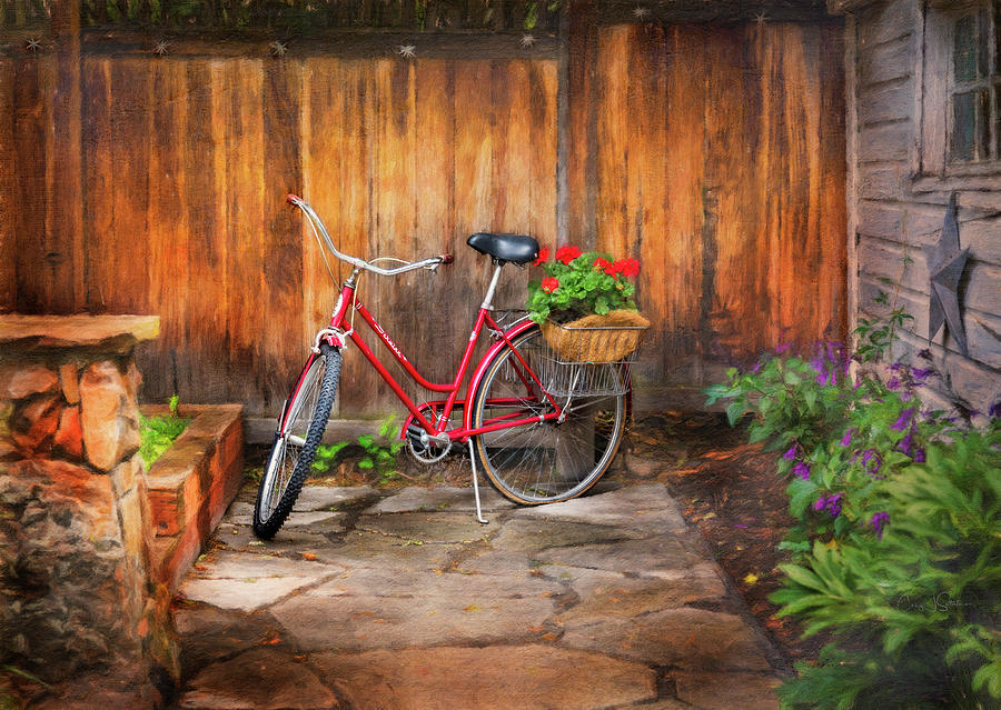 Schwinn Flower Garden Bicycle by Craig J Satterlee