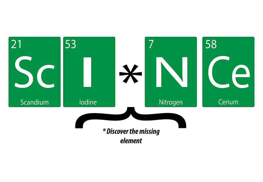 Science periodic elements by Karen Foley