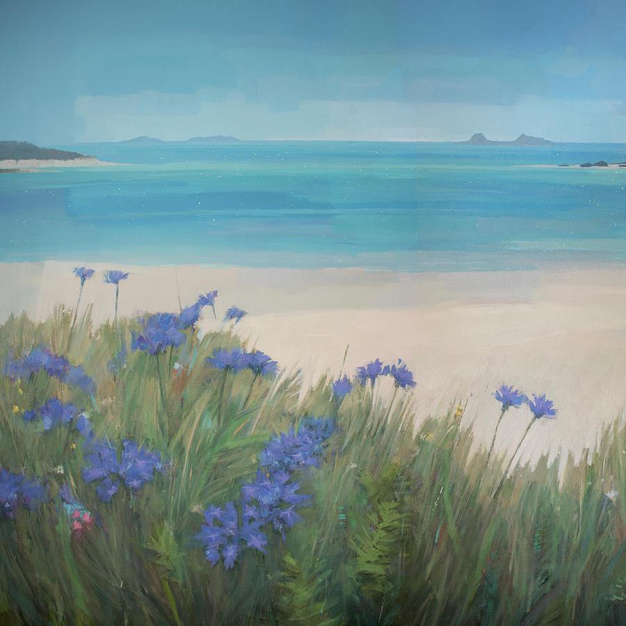 Beach Painting - Scillies Beach by Steve Mitchell