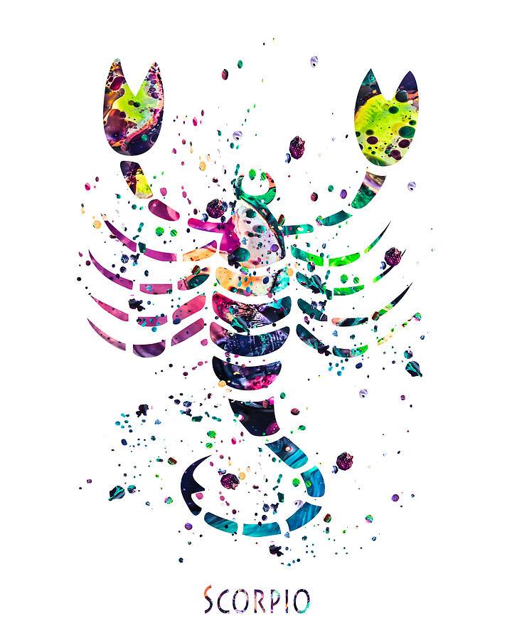 Scorpio Painting - Scorpio Zodiac Sign by Zuzi s
