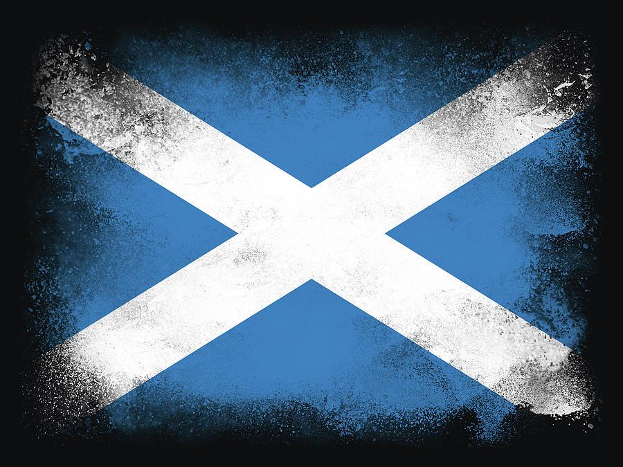 Scotland Flag Digital Art