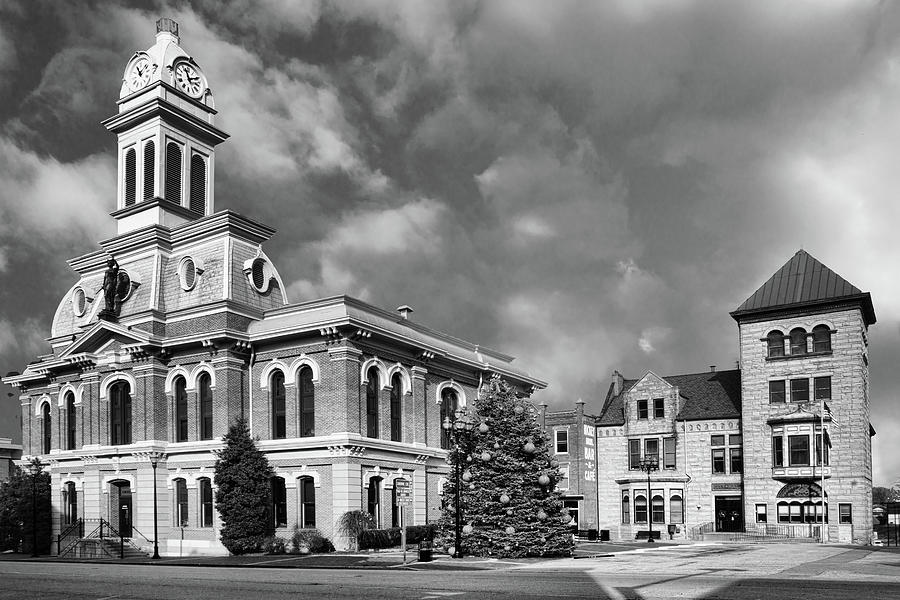 Scott County Courthouse and City Hall BW by Sharon Popek