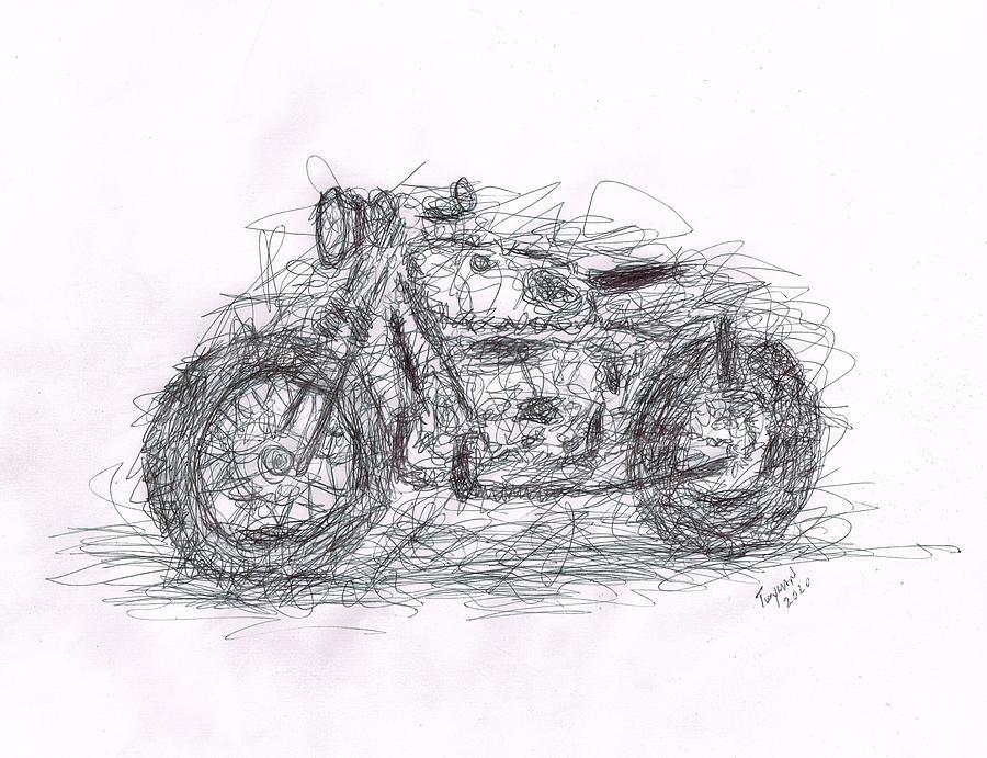 Scribble Bike Drawing