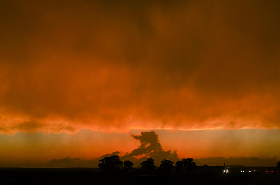 Scud Under Anvil At Sunset Photograph