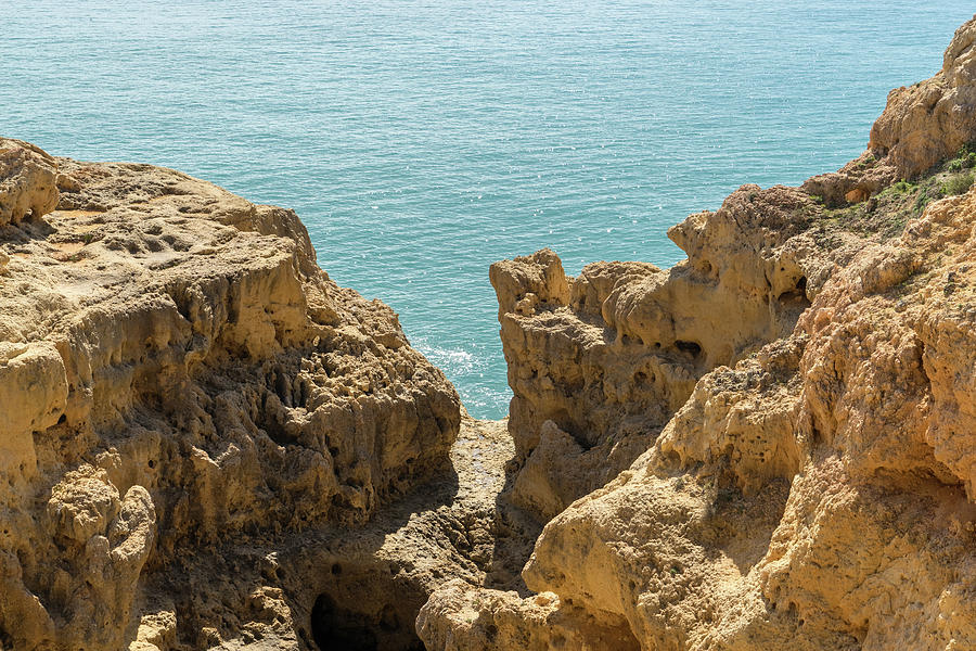 Sculpted Clifftops - Carvoeiro Algarve Gold Coast In Portugal Photograph