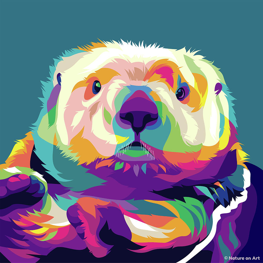 Sea Otter Digital Art