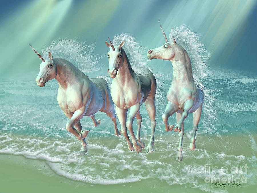 Sea Unicorns Digital Art