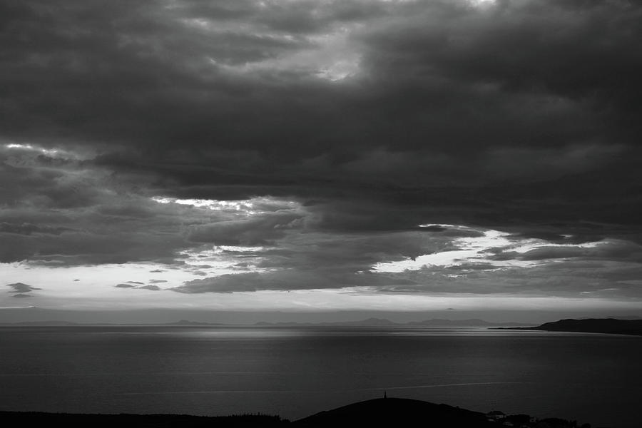 Sea View And Clouds Photograph