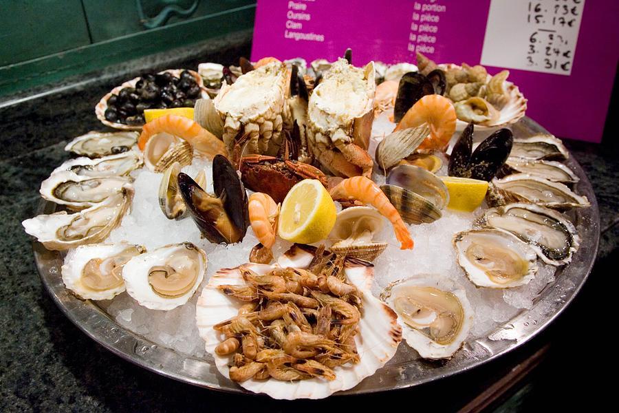 Seafood Platter, Paris, France Photograph by Tim Graham