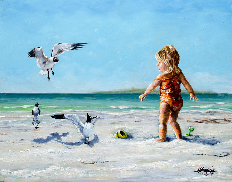 Seagull Surprise Painting