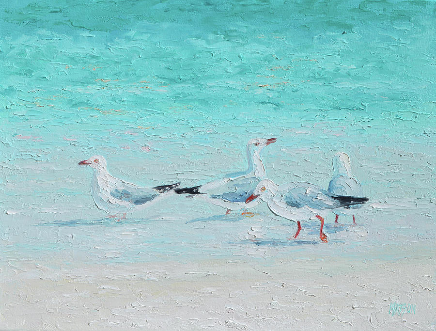 Seagulls, Meeting Of Minds Painting