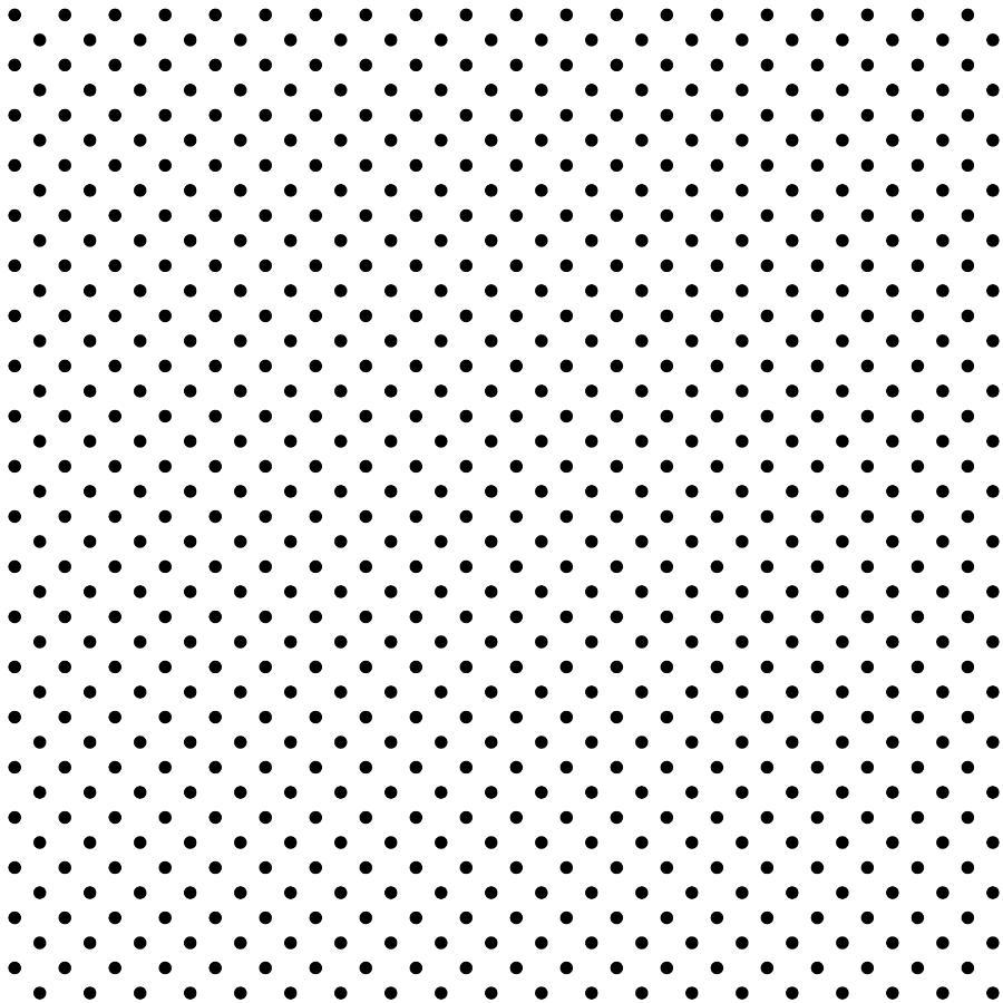 Seamless black polka dot on white background Drawing by Dimitris66