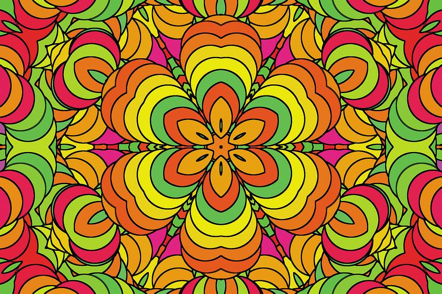 Seamless Pattern Tropicolor Digital Art