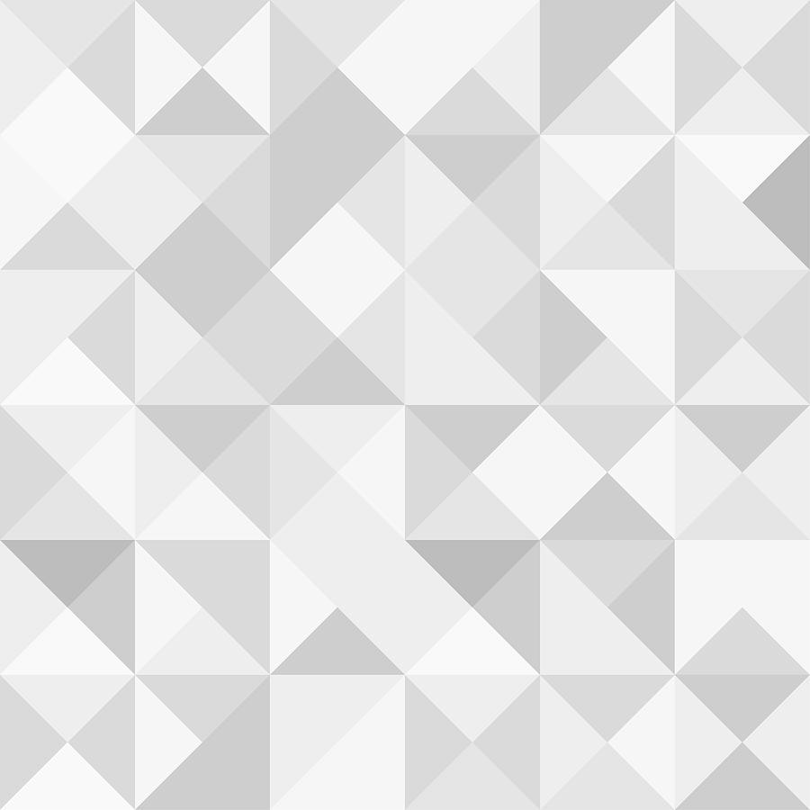 Seamless polygon background pattern - polygonal - gray wallpaper - vector Illustration Drawing by Poligrafistka