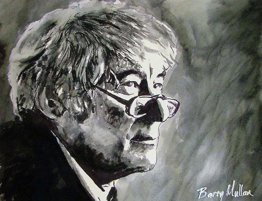 Seamus Heaney Painting by Barry Mullan