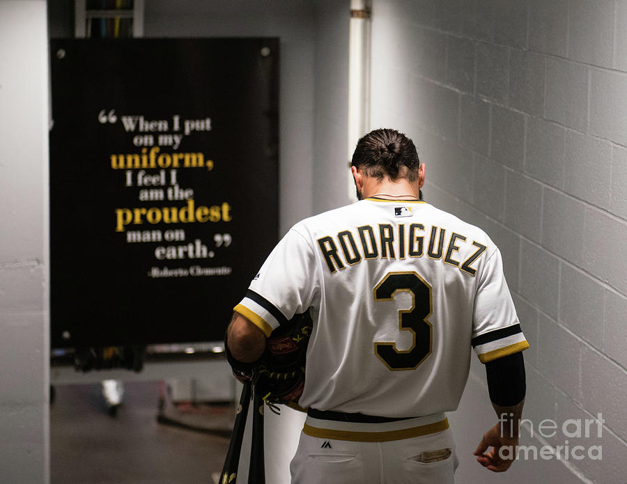 Sean Rodriguez and Roberto Clemente Photograph by Justin Berl