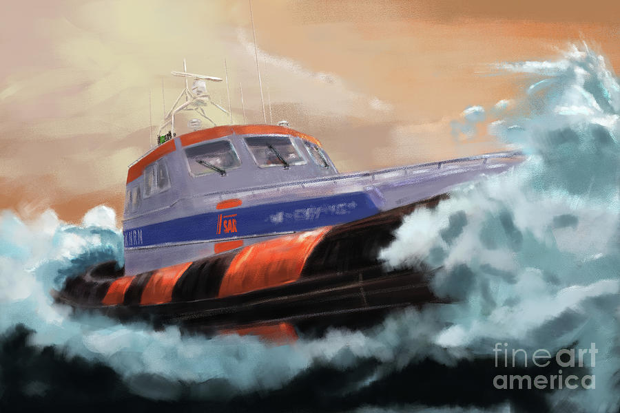 Search And Rescue At Sea Digital Art