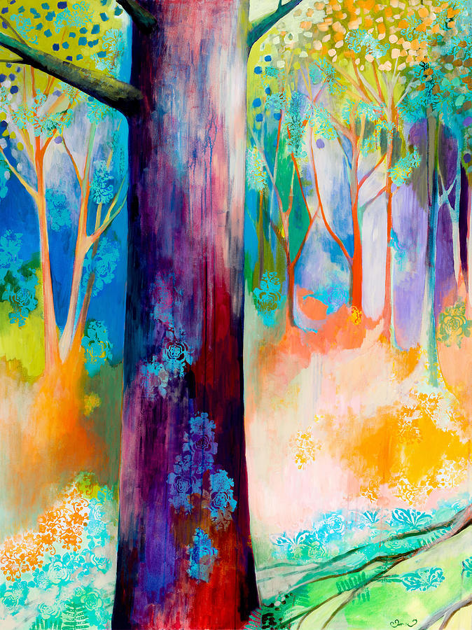 Tree Painting - Searching for Forgotten Paths I by Jennifer Lommers