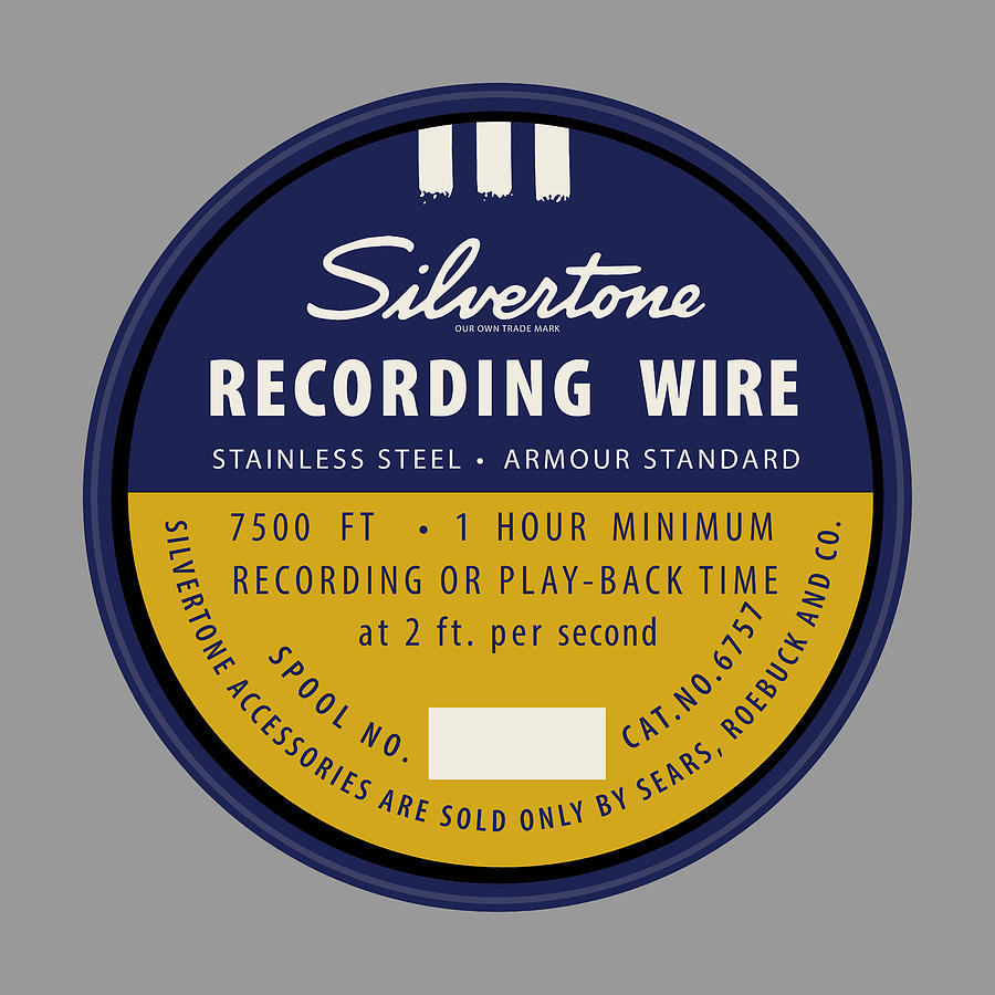 Inventions Digital Art - Sears Recording Wire by Greg Joens