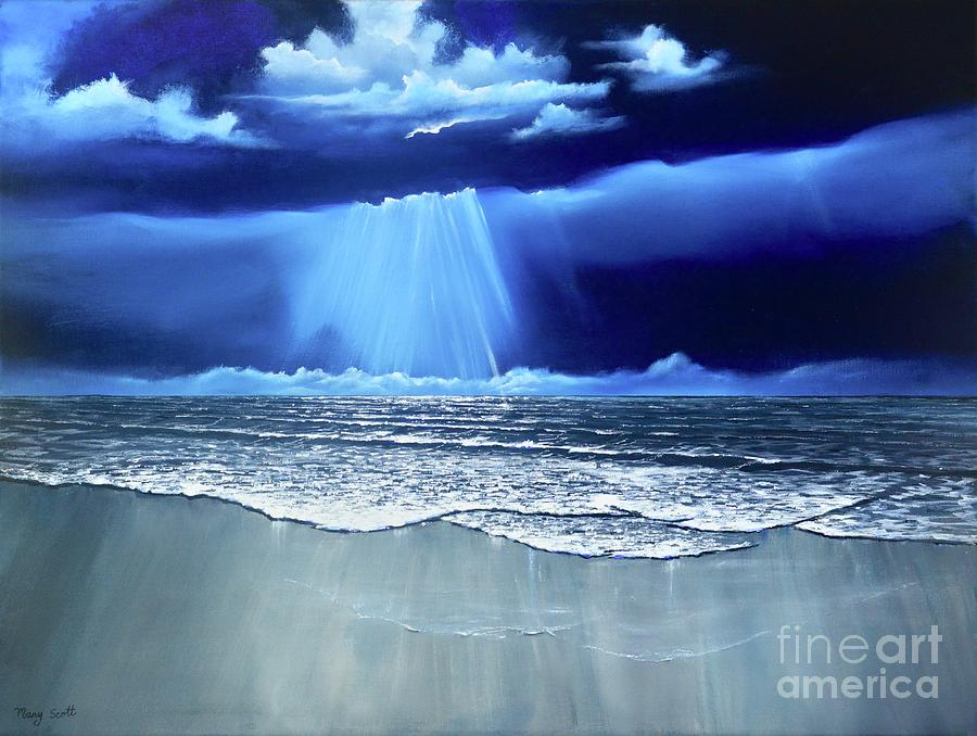Seascape By Night by Mary Scott
