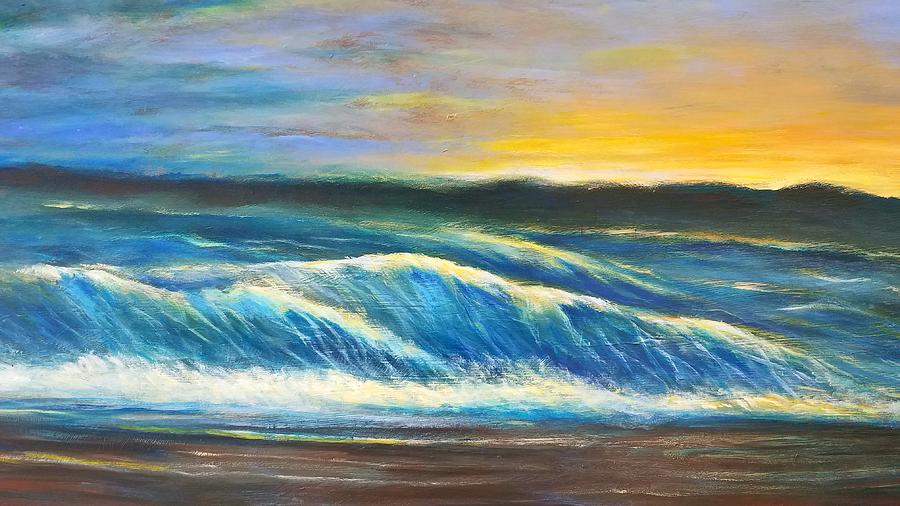 Seascape Florida 2 Painting by Larry Palmer