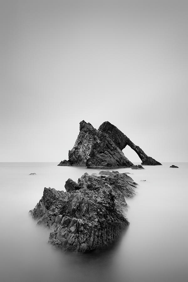 Bow Fiddle Rock Photograph - Seascape Rocks - Bow Fiddle by Grant Glendinning