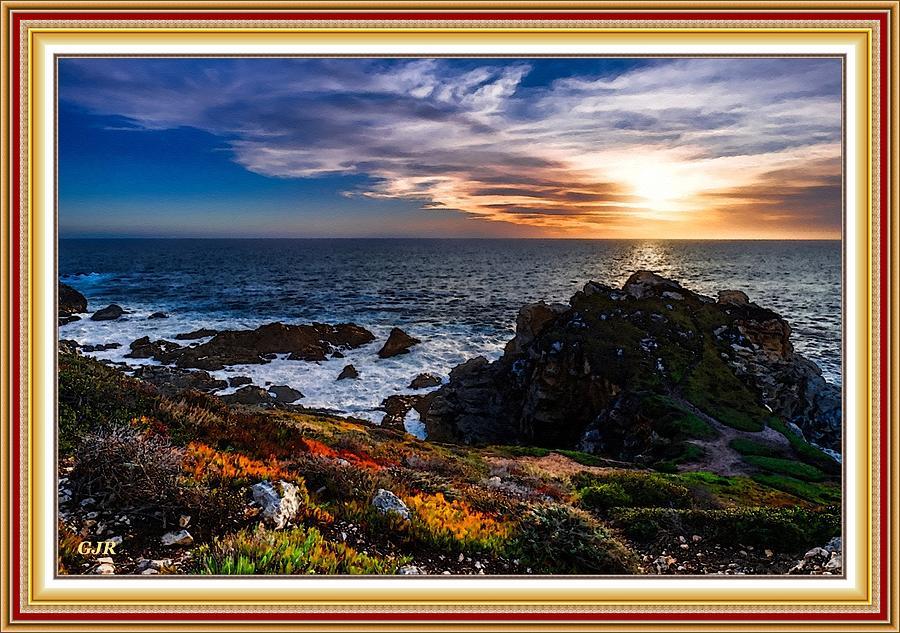 Lifestyle Digital Art - Seascape Scene Near Hamiltonhurst -On -Sea  L A S - With Printed Frame by Gert J Rheeders