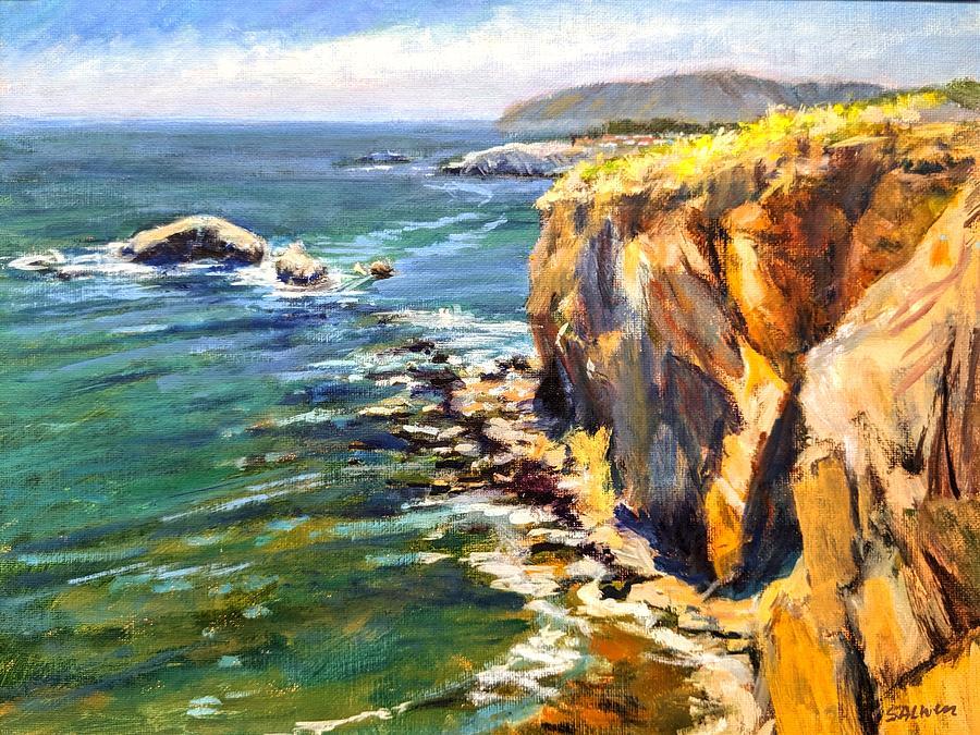 California Coast Painting - Seaside Cliffs, Pismo Beach by Peter Salwen