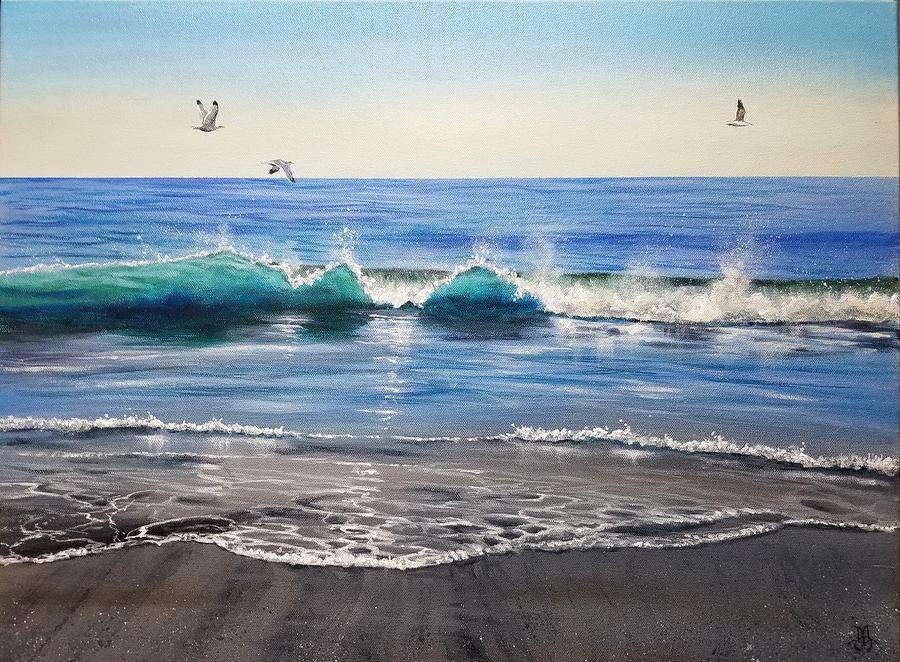 Seaside Flight Painting