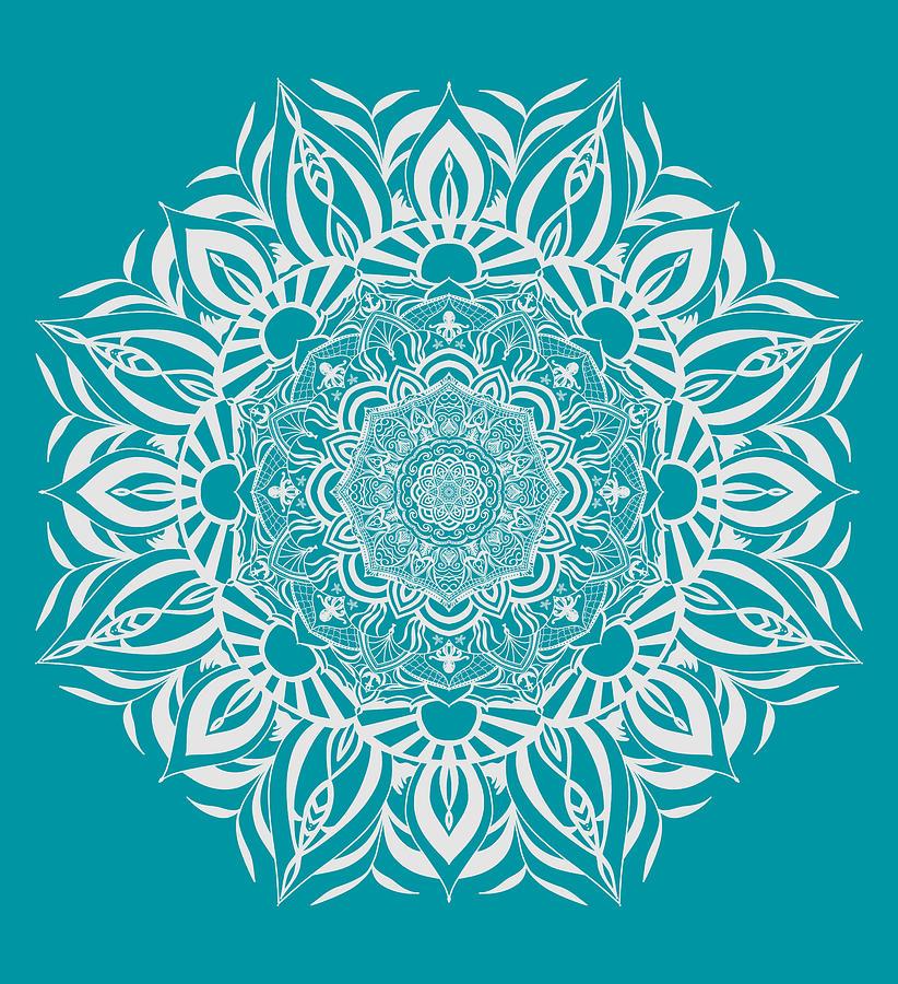 Seaside Mandala Digital Art