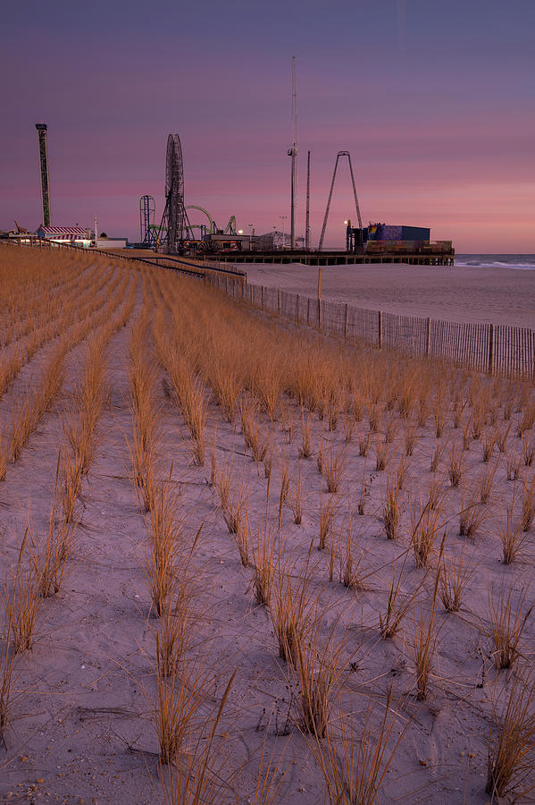 Seaside Park - Jersey Shore Sunrise in late fall. by Kyle Lee