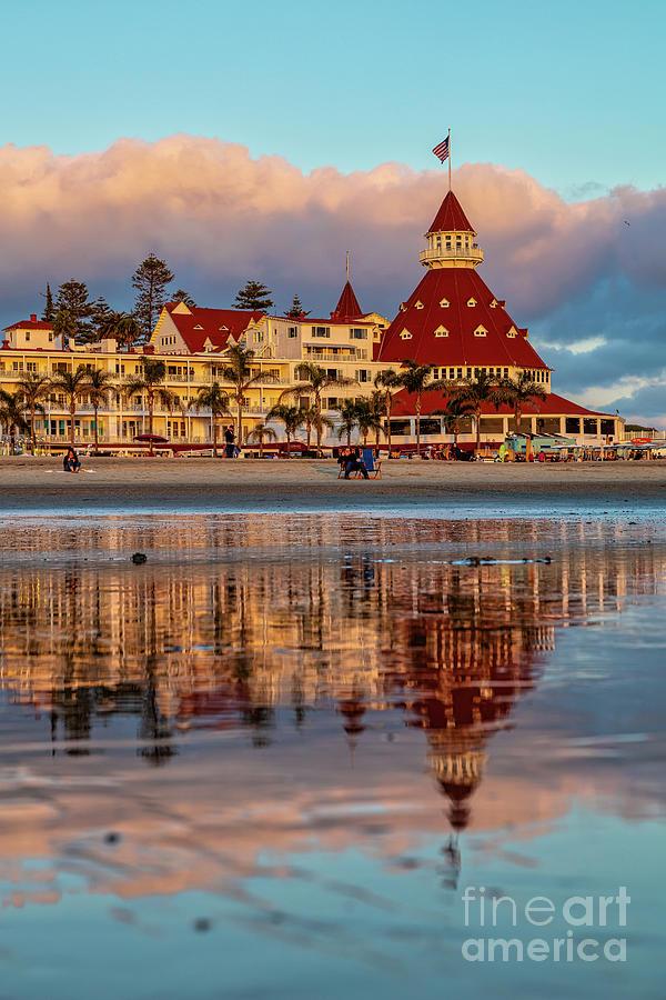 Seaside Reflections at the Hotel del Coronado by Sam Antonio Photography