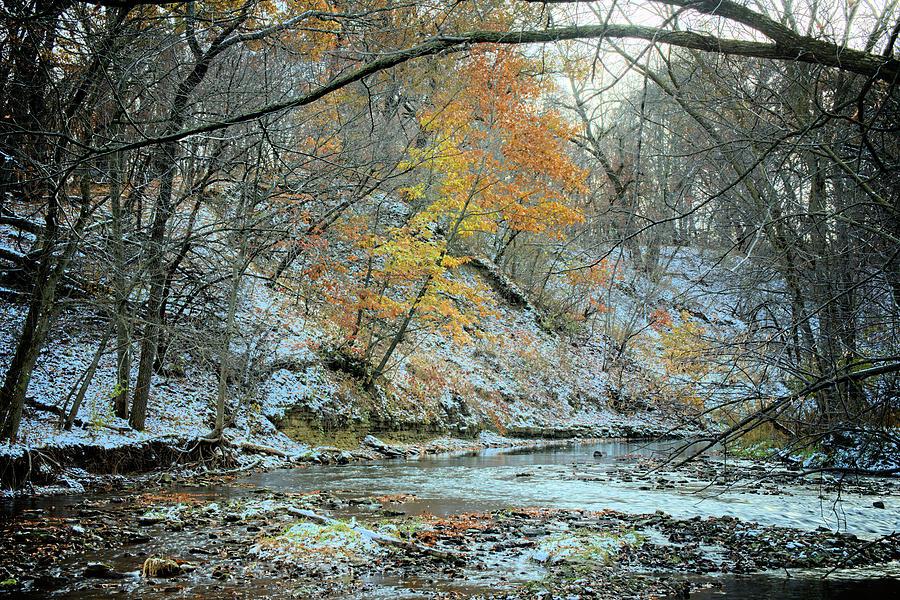 River Photograph - Seasonal Collisions  2 by Bonfire Photography