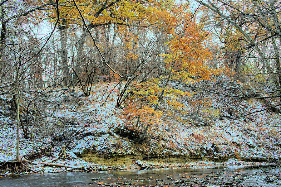 River Photograph - Seasonal Collisions by Bonfire Photography