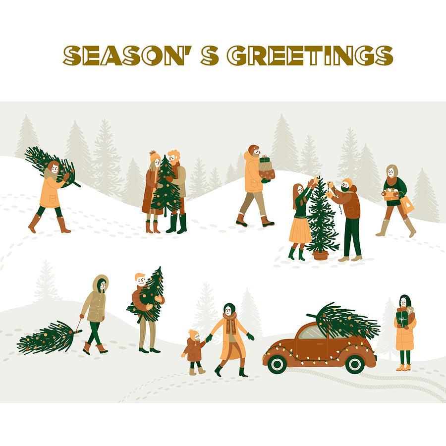 Seasons Greetings Digital Art
