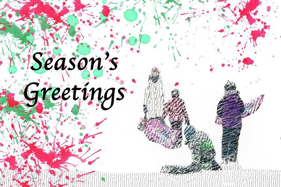 Season's Greetings in the Snow by Marilyn Cornwell