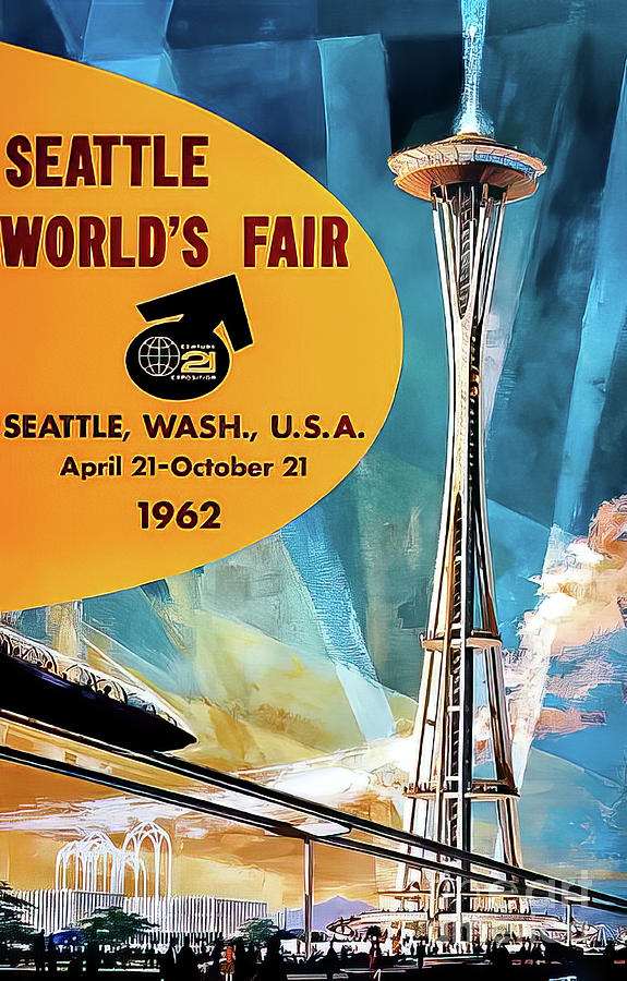 Seattle 1962 Worlds Fair Poster Drawing