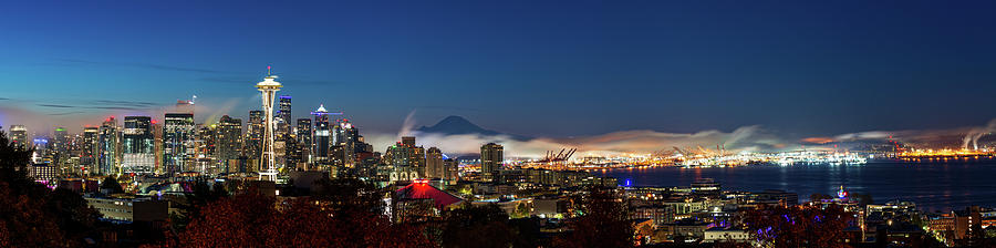 Seattle in dawn bright and cool by Michael Lee