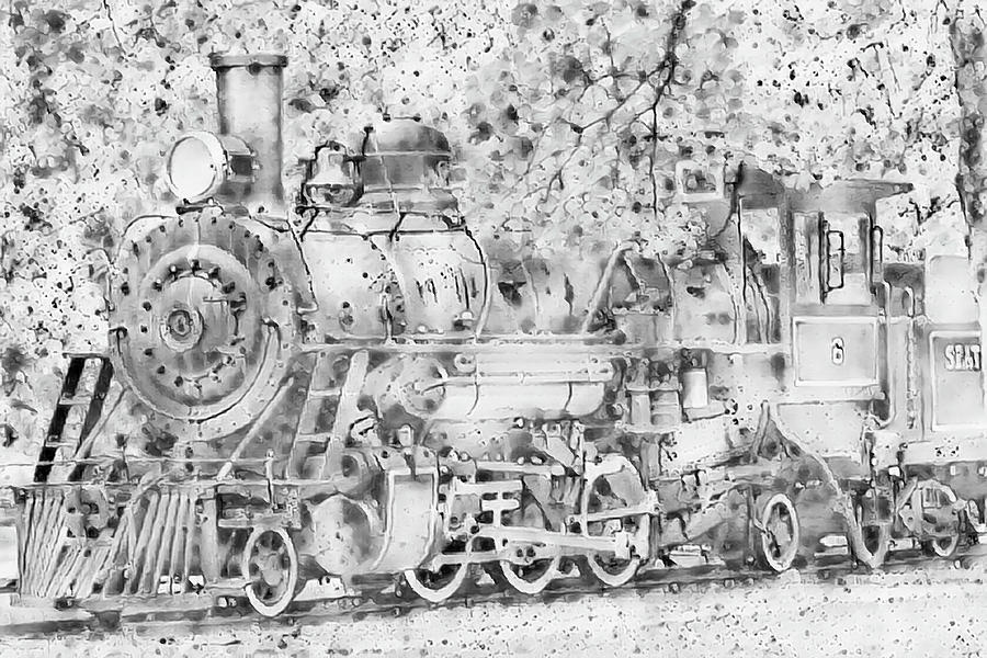 Seattle Locomotive Sketch by Cathy Anderson