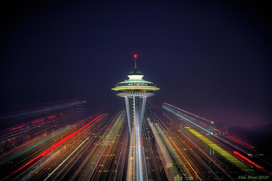 Seattle Space Needle 002 Photograph