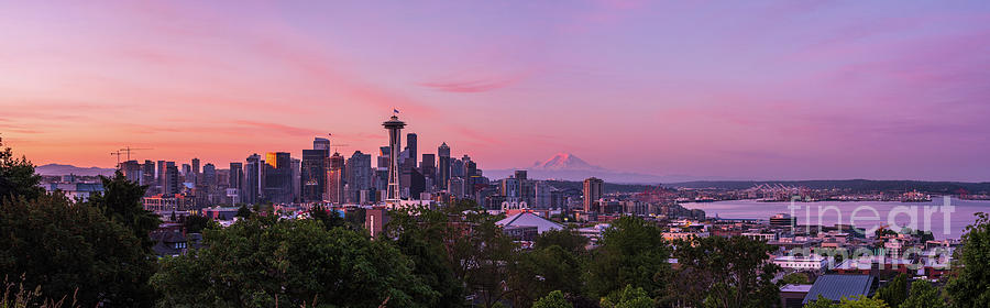 Seattle Sunrise Light And Colors Photograph
